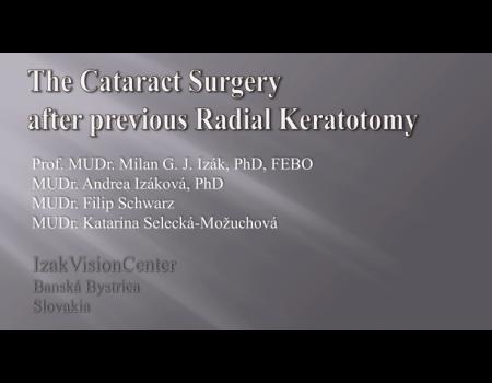 40. Operácia katarakty pri myopii po radiálnej keratotómii